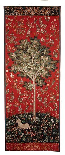Medieval Oak Tree tapestry - Lady with the Unicorn tapestries