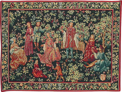 The Secret Garden Tapestry Medieval Wall Hanging Tapestries