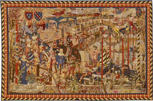 The Tournament tapestry - medieval jousting