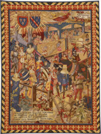 At the Tournament - jousting tapestry wall-hanging