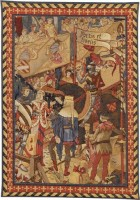 Fortis et Fidelis tapestry - knights wall tapestries