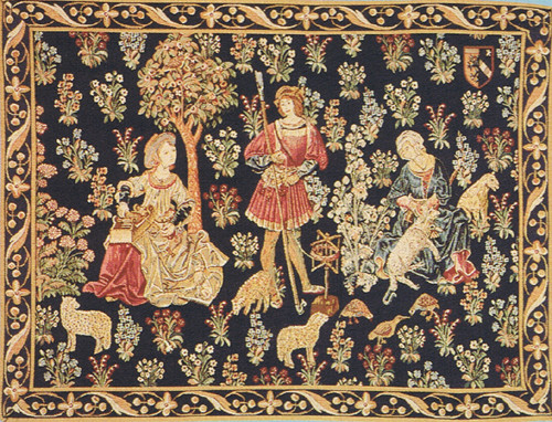 Woolworkers tapestry wallhanging - medieval wall tapestry