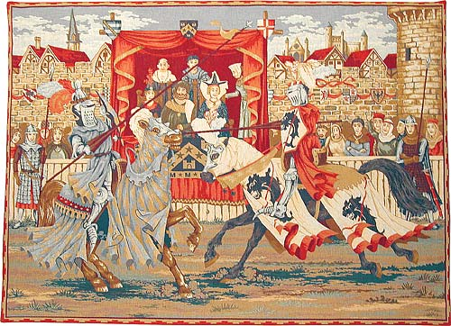 The Tournament wall tapestry - French medieval joust