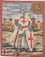 Knight Templar tapestry - medieval knights tapestries