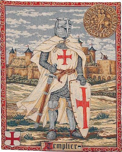 Knight Templar tapestry - medieval knights tapestries