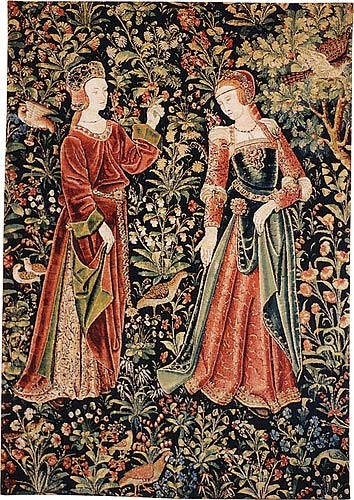 The Promenade with 2 figures - Scenes from Lordly Life