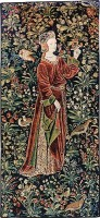 The Promenade with 1 figure - mille fleurs tapestry