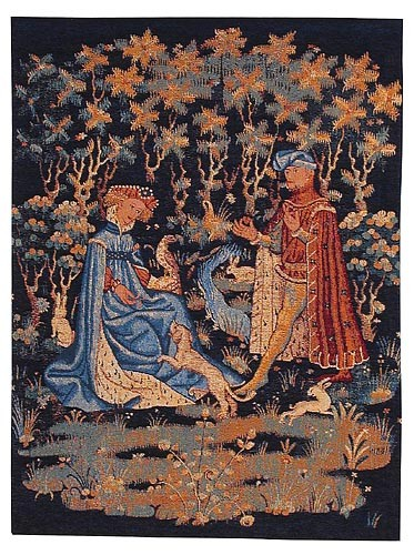 Gift of the Heart tapestry - medieval tapestries