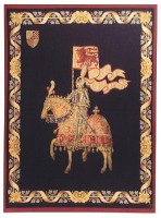 Montacute Knight wall tapestry - knight on horseback