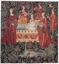 The Bath tapestry - La tenture de la Vie Seigneuriale tapestries