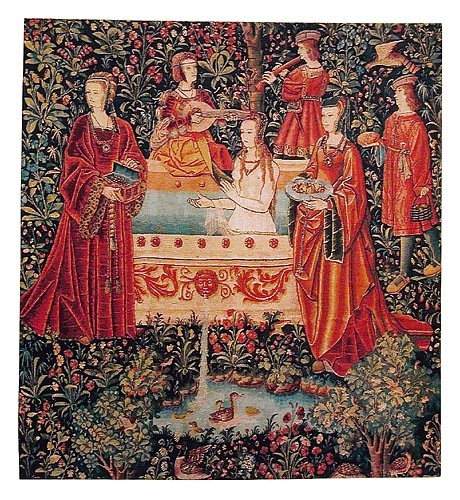 The Bath tapestry - La tenture de la Vie Seigneuriale tapestries