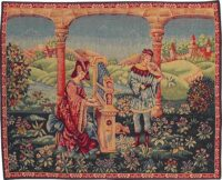 Chant d'Amour tapestry - medieval wall hanging