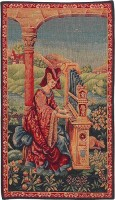 Lady at the Organ tapestry - medieval tapestries