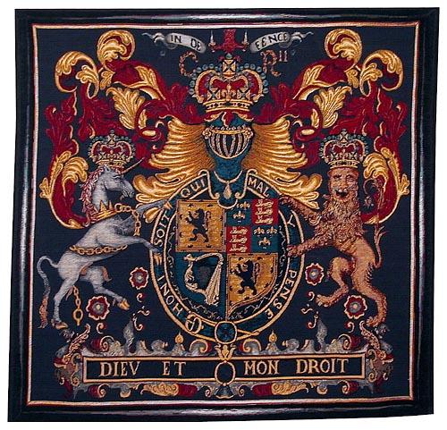 Stuart Crest tapestry - woven in Belgium