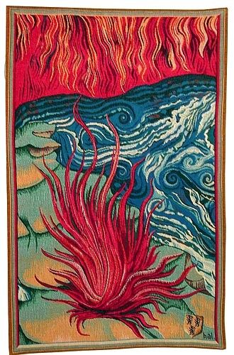 Apocalypse Tapestry Fire - medieval wall hangings