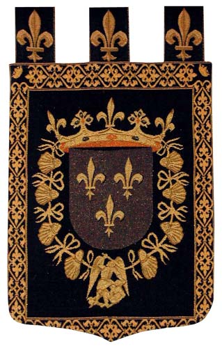 Blois Coat of Arms tapestry - medieval tapestry art