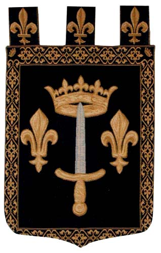 Joan of Arc Arms tapestry - heraldry crest wall-hanging