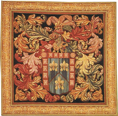 De Naguera Coat of Arms - French medieval tapestry wall hanging
