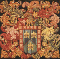 De Naguera Crest tapestry - medieval wall tapestry