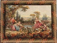 Lakeside Trysts tapestry - Noble Pastorale tapestries