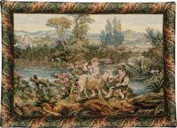Children at the Lake - Italian tapestry on sale