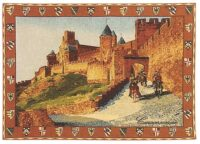 Carcassone tapestry - knights wall hanging