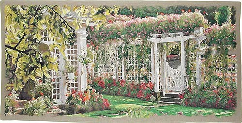 The Butchart Gardens tapestry - Belgian wall-hanging
