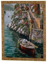 Lake Como Villa - small Pejman mini-tapestries
