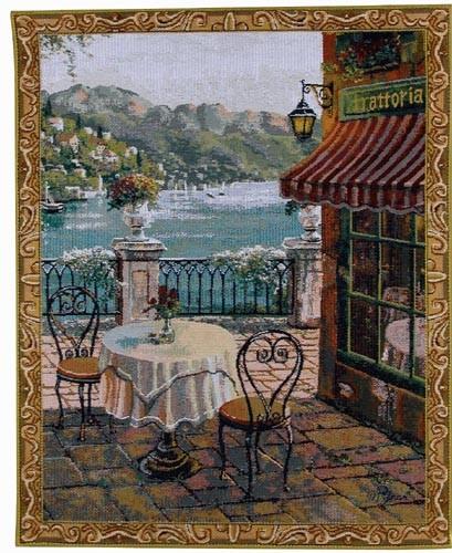 Trattoria tapestry - small Pejman mini-tapestries