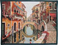 Venice Canal tapestry - fine woven art tapestries