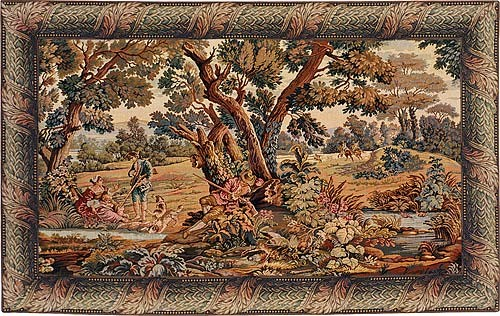 Hunters Rest tapestry - hunting wall hanging