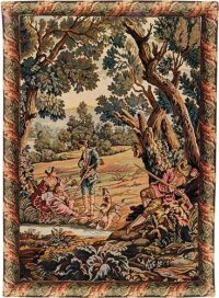Hunters Rest vertical tapestry - woven in Italy