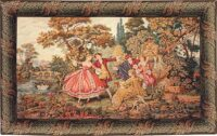 Minuetto tapestry - Francois Boucher wall tapestries