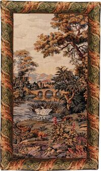 Swan Lake tapestry - Italian wall hanging