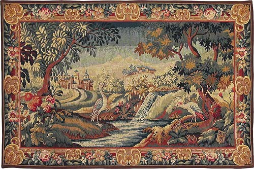 Verdure Champfleury - Aubusson tapestry wall hanging