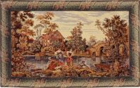 At the Mill tapestry - Italian wall-hanging
