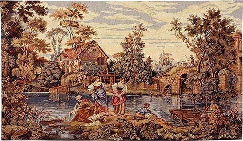 At the Mill - Italian wall tapestry