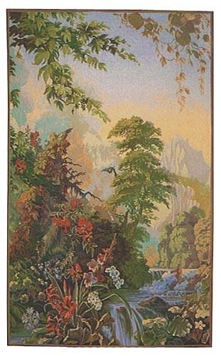 Garden of Delight Agapanthus tapestry - Eden tapestries