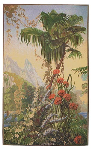 Garden of Delight Amaryllis tapestry - pair of tapestries
