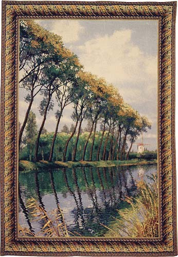 Canal in Flanders tapestry - landscape wall tapestry