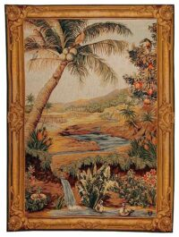 Oasis tapestry - woven in France