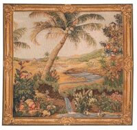 Oasis square tapestry - Tentures des Indes tapestries