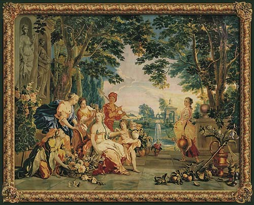 The Triumph Of Flora Francois Boucher Tapestry Wall Hanging