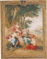 Triumph of Apollo tapestry - classical wall tapestries