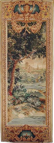 Verdure Cascade left tapestry - pair of tapestries