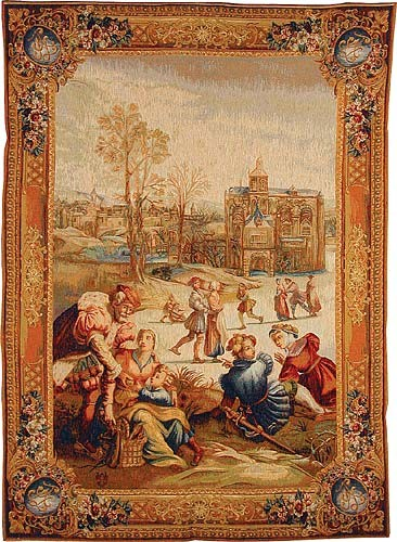 Skaters vertical tapestry - Gobelins tapestries