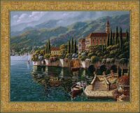 Varenna Reflections tapestry - Robert Pejman art tapestries