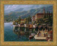 Varenna Reflections tapestry - Robert Pejman art tapestries