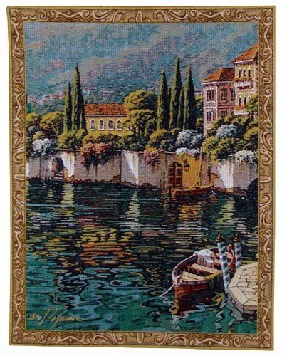 Varenna Reflections - small tapestry wallhangings from Pejman Art