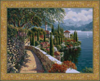Varenna Vista tapestry - Bob Pejman art tapestries